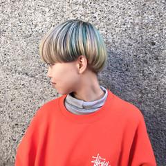 外国人風カラー ダブルカラー グラデーションカラー ボブ ヘアスタイルや髪型の写真・画像