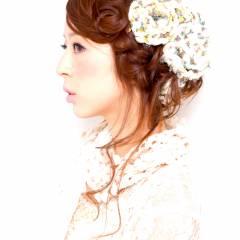 ナチュラル 大人かわいい ヘアアレンジ 三つ編み ヘアスタイルや髪型の写真・画像