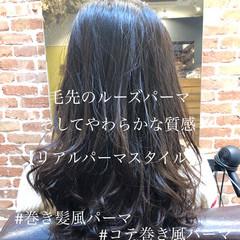ナチュラル ゆるふわ パーマ ゆるふわパーマ ヘアスタイルや髪型の写真・画像