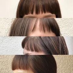 ボブ 斜め前髪 前髪パッツン 前髪あり ヘアスタイルや髪型の写真・画像