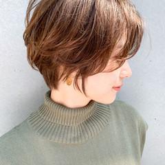 デジタルパーマ ナチュラル ひし形シルエット 大人ハイライト ヘアスタイルや髪型の写真・画像