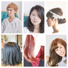 外国人風カラー ニュアンス 切りっぱなし ボブ ヘアスタイルや髪型の写真・画像