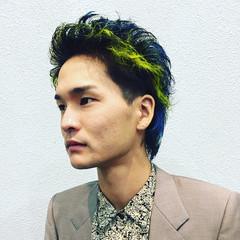 ショート イルミナカラー ストリート メンズスタイル ヘアスタイルや髪型の写真・画像