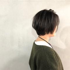 オリーブアッシュ ナチュラル 簡単 小顔 ヘアスタイルや髪型の写真・画像
