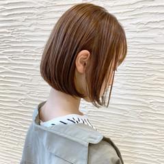 ショートボブ ナチュラル まとまるボブ ボブ ヘアスタイルや髪型の写真・画像