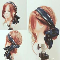 ロング バンダナ ショート ヘアアレンジ ヘアスタイルや髪型の写真・画像