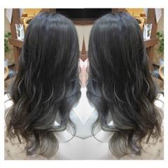 ガーリー ブルー 外国人風 ロング ヘアスタイルや髪型の写真・画像