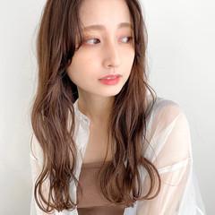 韓国ヘア 韓国風ヘアー ナチュラル モカブラウン ヘアスタイルや髪型の写真・画像