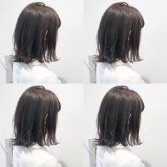 透明感 ゆるふわ ボブ アンニュイ ヘアスタイルや髪型の写真・画像