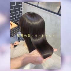 トリートメント 髪質改善 暗髪女子 暗髪 ヘアスタイルや髪型の写真・画像