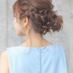 ミディアム 涼しげ 女子会 ヘアアレンジ ヘアスタイルや髪型の写真・画像