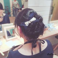 編み込み ねじり 大人かわいい 結婚式 ヘアスタイルや髪型の写真・画像