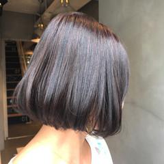 ローライト 秋 ボブ 透明感 ヘアスタイルや髪型の写真・画像