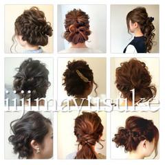 簡単ヘアアレンジ ハーフアップ 大人かわいい ショート ヘアスタイルや髪型の写真・画像