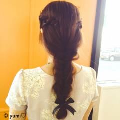 ツイスト フィッシュボーン 秋 大人かわいい ヘアスタイルや髪型の写真・画像