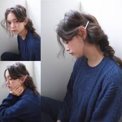ウェーブ 暗髪 ミディアム 外国人風 ヘアスタイルや髪型の写真・画像