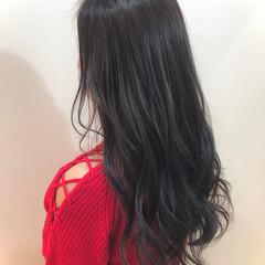 ロング 外国人風カラー グレージュ エレガント ヘアスタイルや髪型の写真・画像