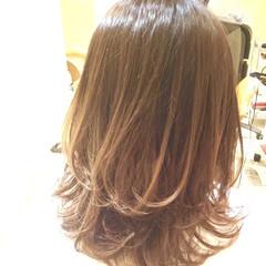 社会人 オフィス グラデーションカラー コンサバ ヘアスタイルや髪型の写真・画像