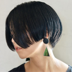 ショートボブ 大人女子 ストリート ボブ ヘアスタイルや髪型の写真・画像
