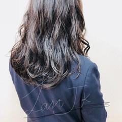 ゆるふわ 時短 セミロング 黒髪 ヘアスタイルや髪型の写真・画像