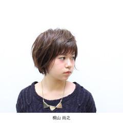 暗髪 似合わせ ショート 秋 ヘアスタイルや髪型の写真・画像