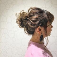 ヘアアレンジ ルーズ ミディアム 外国人風 ヘアスタイルや髪型の写真・画像
