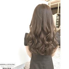 暗髪 アッシュ コンサバ ロング ヘアスタイルや髪型の写真・画像