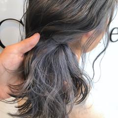 グレージュ 外国人風カラー ウェーブ インナーカラー ヘアスタイルや髪型の写真・画像