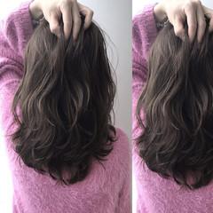 アッシュベージュ ハイライト ベージュ グレージュ ヘアスタイルや髪型の写真・画像