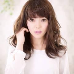 コンサバ 秋 モテ髪 セミロング ヘアスタイルや髪型の写真・画像