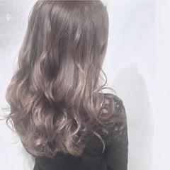 透明感 セミロング 外国人風カラー アッシュグレージュ ヘアスタイルや髪型の写真・画像