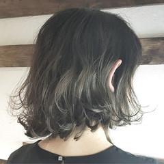 パーマ モード グレージュ ボブ ヘアスタイルや髪型の写真・画像
