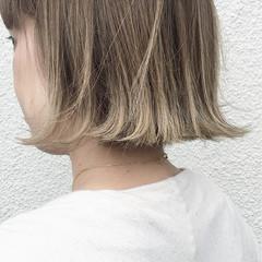 切りっぱなし 秋 ボブ グラデーションカラー ヘアスタイルや髪型の写真・画像