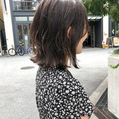 フェミニン ミディアム ハイライト バレイヤージュ ヘアスタイルや髪型の写真・画像