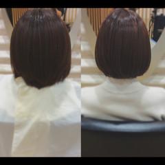 ナチュラル 髪質改善トリートメント ミニボブ 髪質改善 ヘアスタイルや髪型の写真・画像
