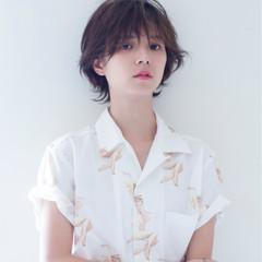 ショート 透明感 ウルフカット 秋 ヘアスタイルや髪型の写真・画像