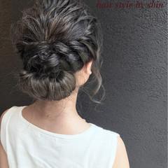 セミロング 簡単ヘアアレンジ 透明感 結婚式 ヘアスタイルや髪型の写真・画像
