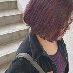 ストリート ショートボブ ダブルカラー ハイトーンカラー ヘアスタイルや髪型の写真・画像