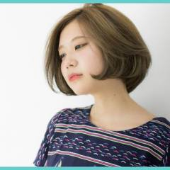 ボブ 外国人風カラー ナチュラル ショート ヘアスタイルや髪型の写真・画像