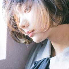 ストリート 外国人風 アッシュ ハイライト ヘアスタイルや髪型の写真・画像