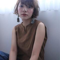 透明感 ナチュラル ショート 前髪あり ヘアスタイルや髪型の写真・画像