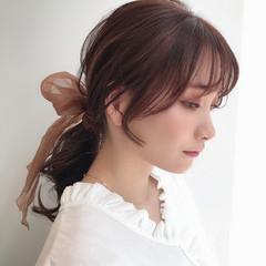 ヘアアレンジ ロング 韓国ヘア ポニーテールアレンジ ヘアスタイルや髪型の写真・画像