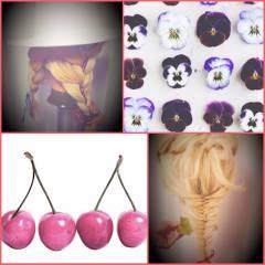 春 編み込み ヘアアレンジ ストリート ヘアスタイルや髪型の写真・画像