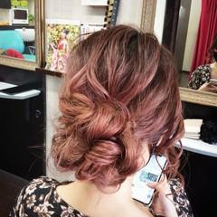 ナチュラル ヘアアレンジ セミロング ふわふわヘアアレンジ ヘアスタイルや髪型の写真・画像