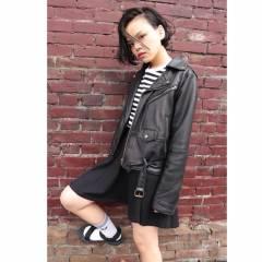 黒髪 暗髪 ショート ストレート ヘアスタイルや髪型の写真・画像