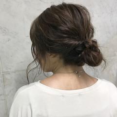 ガーリー アンニュイ ヘアアレンジ ミディアム ヘアスタイルや髪型の写真・画像