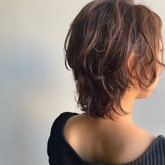 レイヤースタイル レイヤーカット ミディアム ミディアムレイヤー ヘアスタイルや髪型の写真・画像