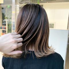 ハイライト ストリート バレイヤージュ インナーカラー ヘアスタイルや髪型の写真・画像