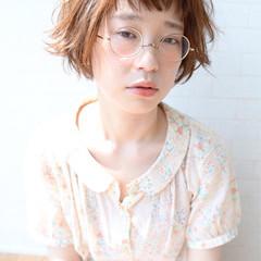 ショート ガーリー アンニュイ 小顔 ヘアスタイルや髪型の写真・画像