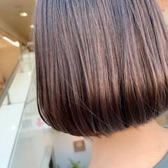 ショートヘア 内巻き ミニボブ ナチュラル ヘアスタイルや髪型の写真・画像